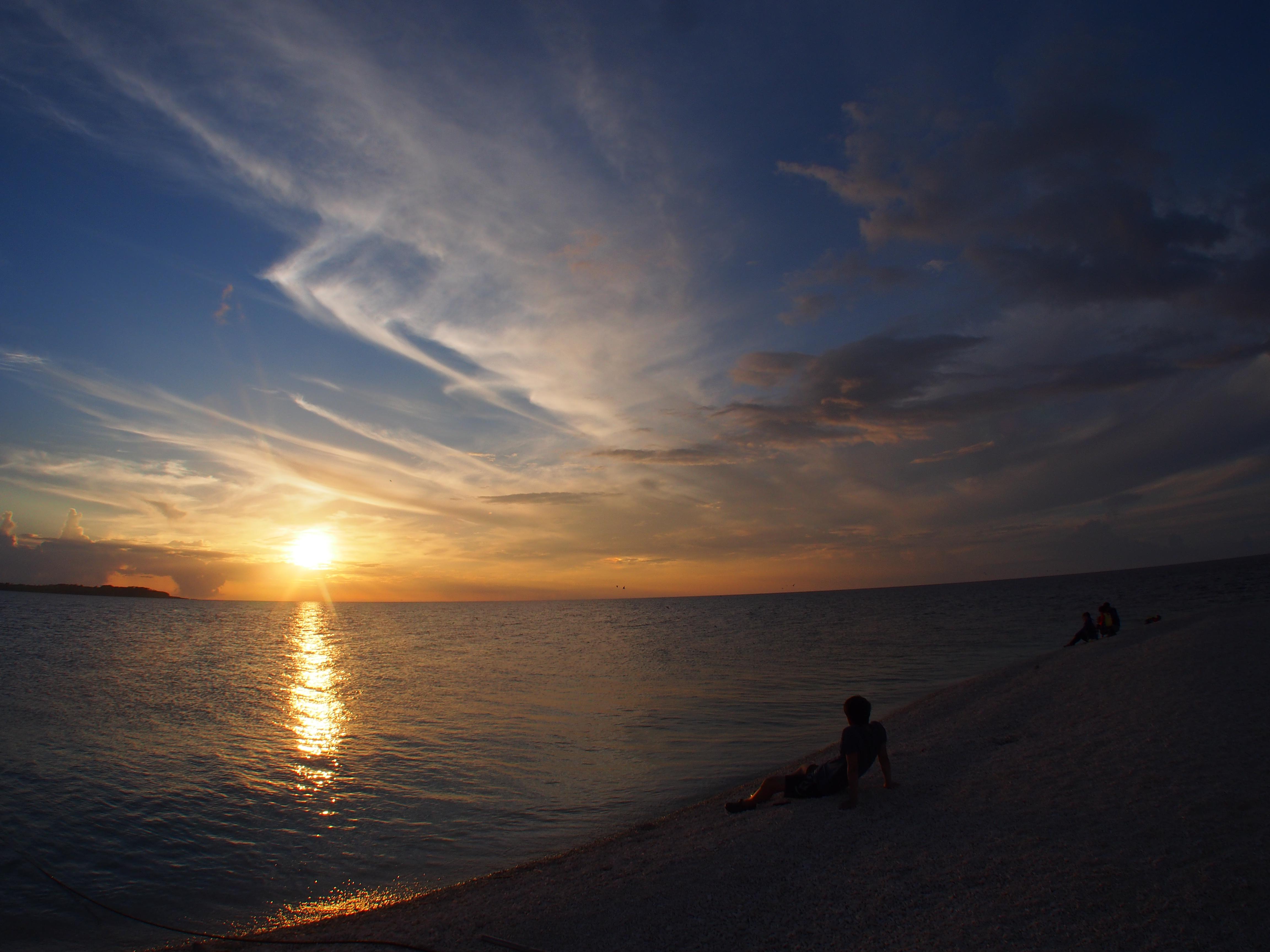 石垣島サンセットの空と海