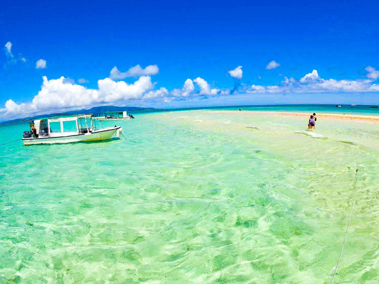 干潮時の幻の島浜島