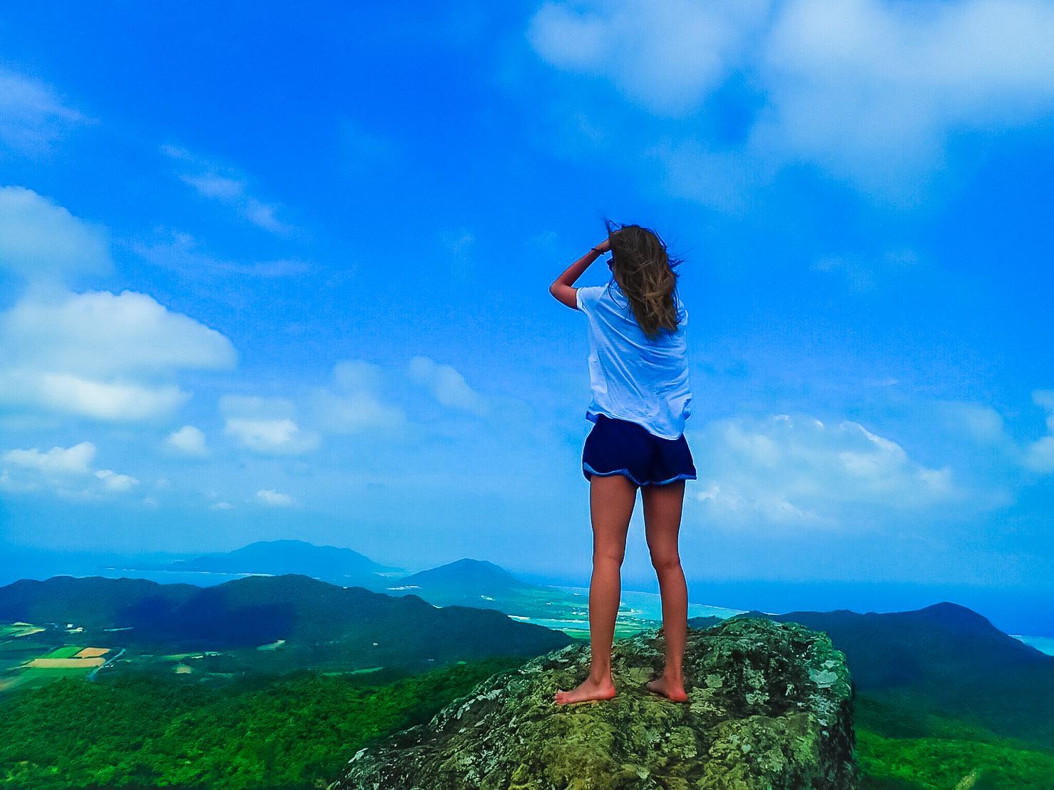 女子旅でマーペー頂上から