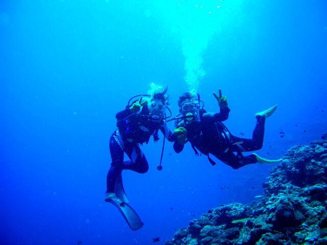 カップルで体験ダイビング
