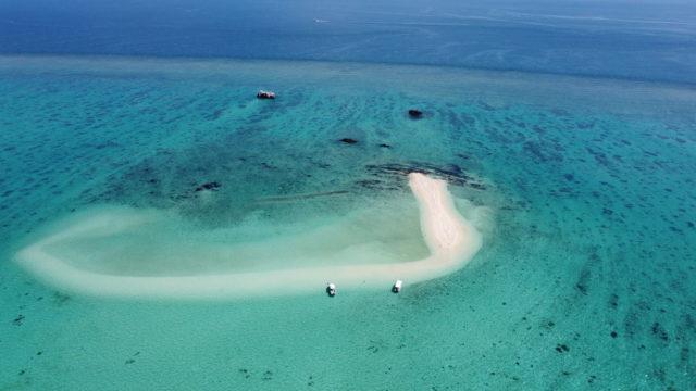 石垣島の幻の島(空撮)