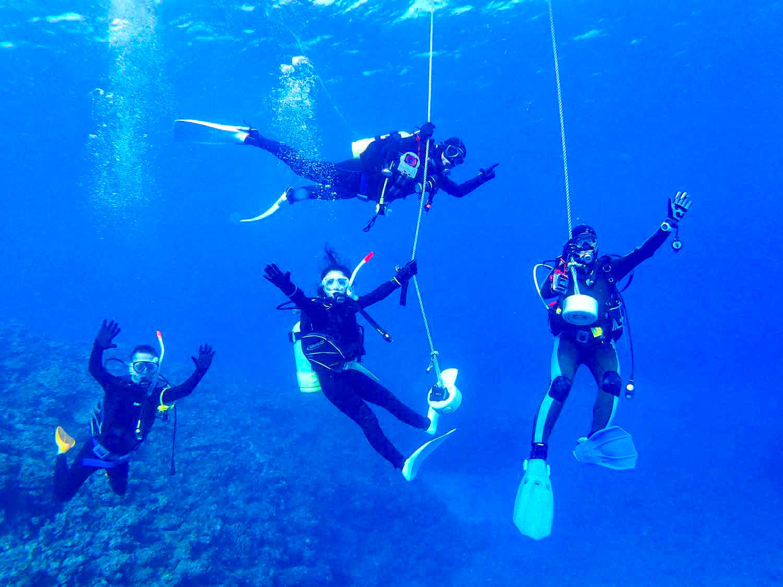 社員旅行で石垣島の体験ダイビングに参加する