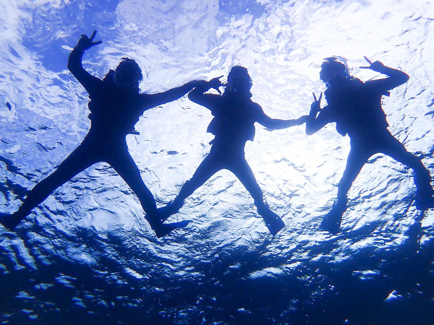 石垣島SUP後にシュノーケリングを楽しむ女性達