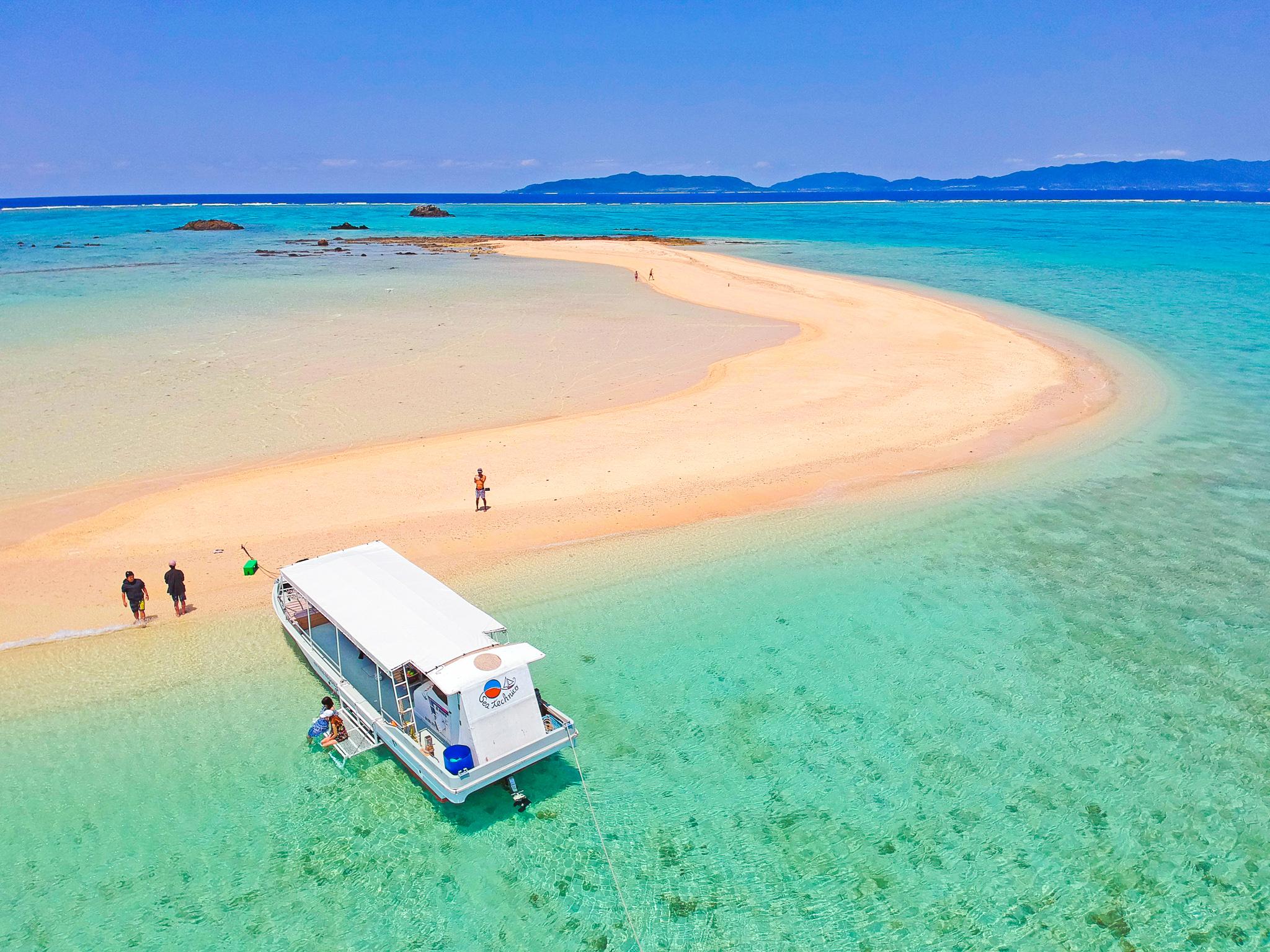 上空から撮影した浜島
