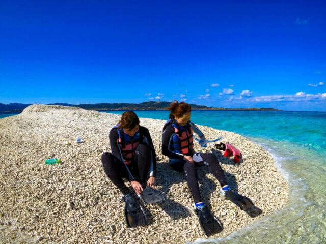 バラス島に上陸
