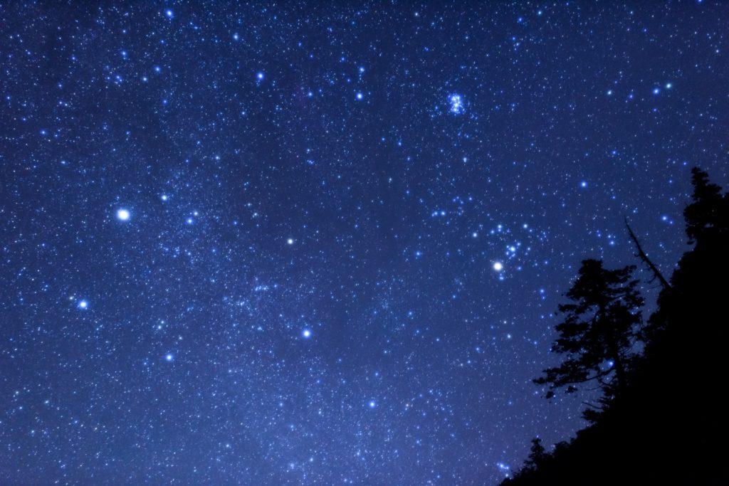 ホタル観察後の石垣島の夜の星空