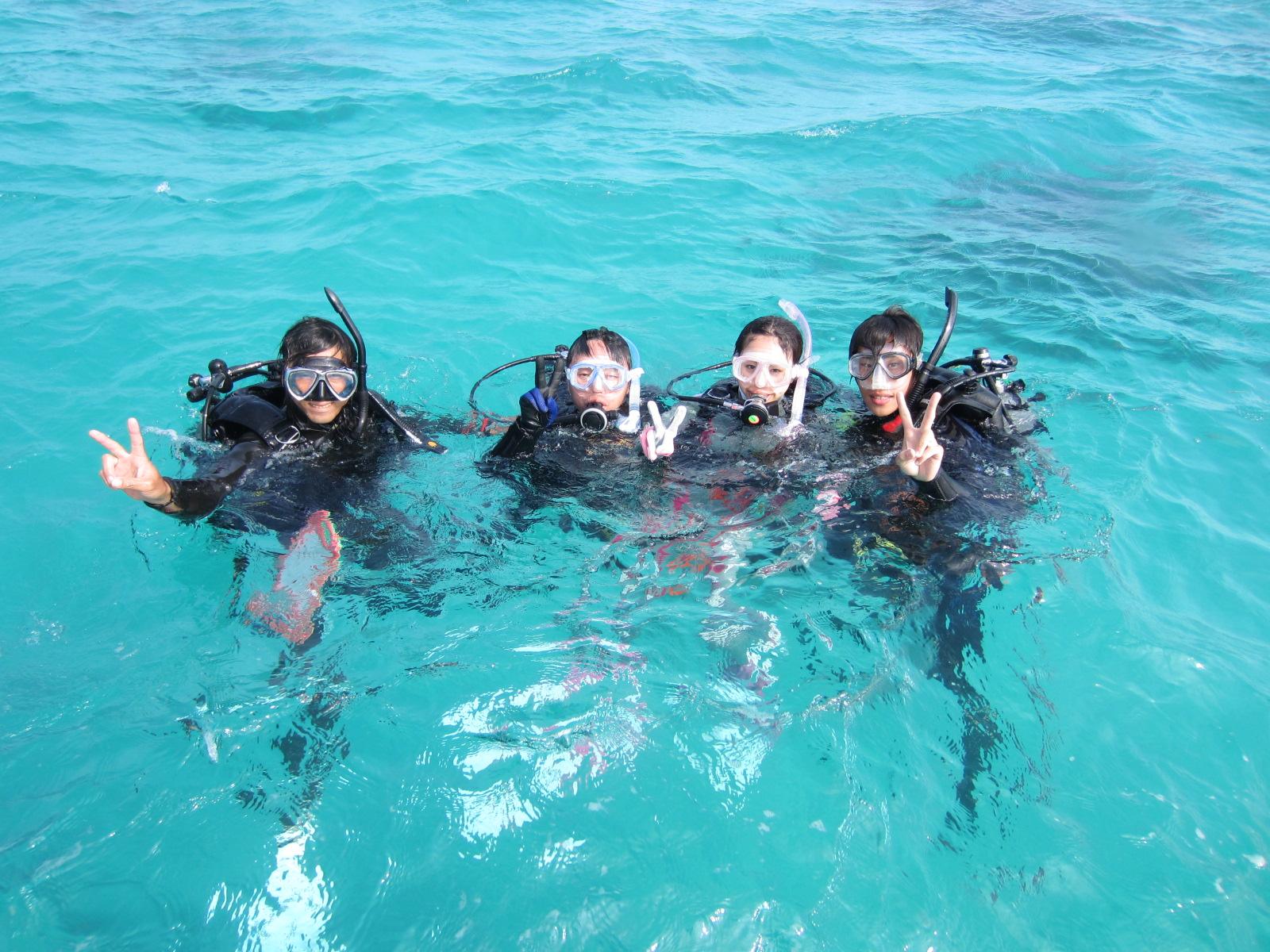 石垣島の春の体験ダイビング
