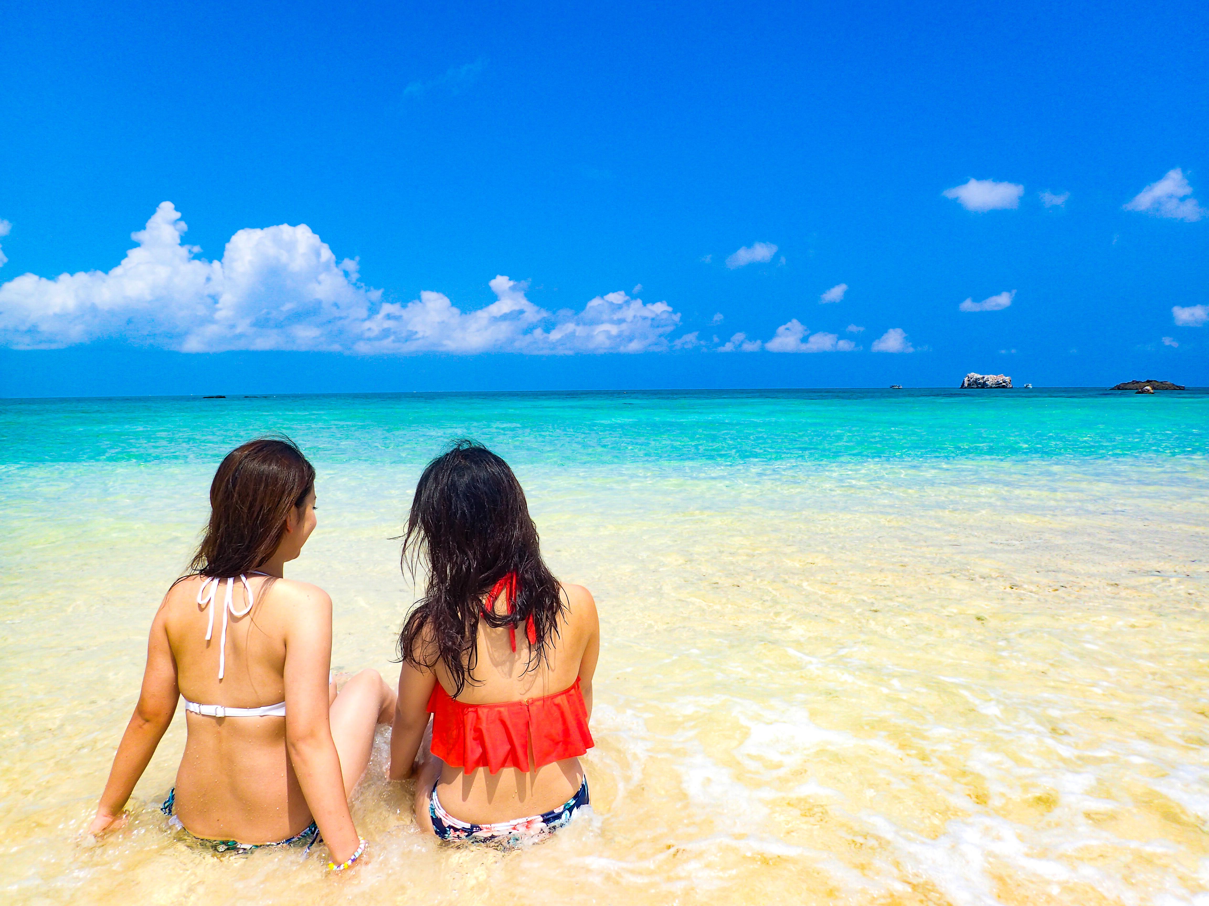風景が絵になる石垣島の幻の島でのシュノーケリング