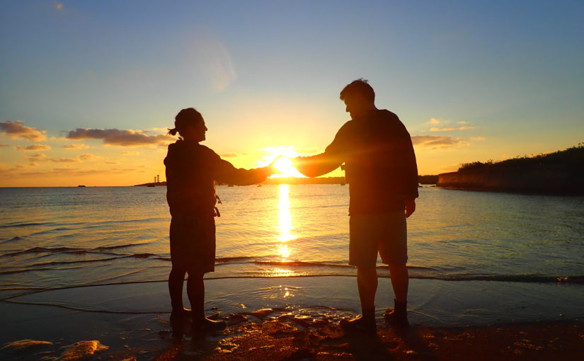 石垣島サンセット、カップルで