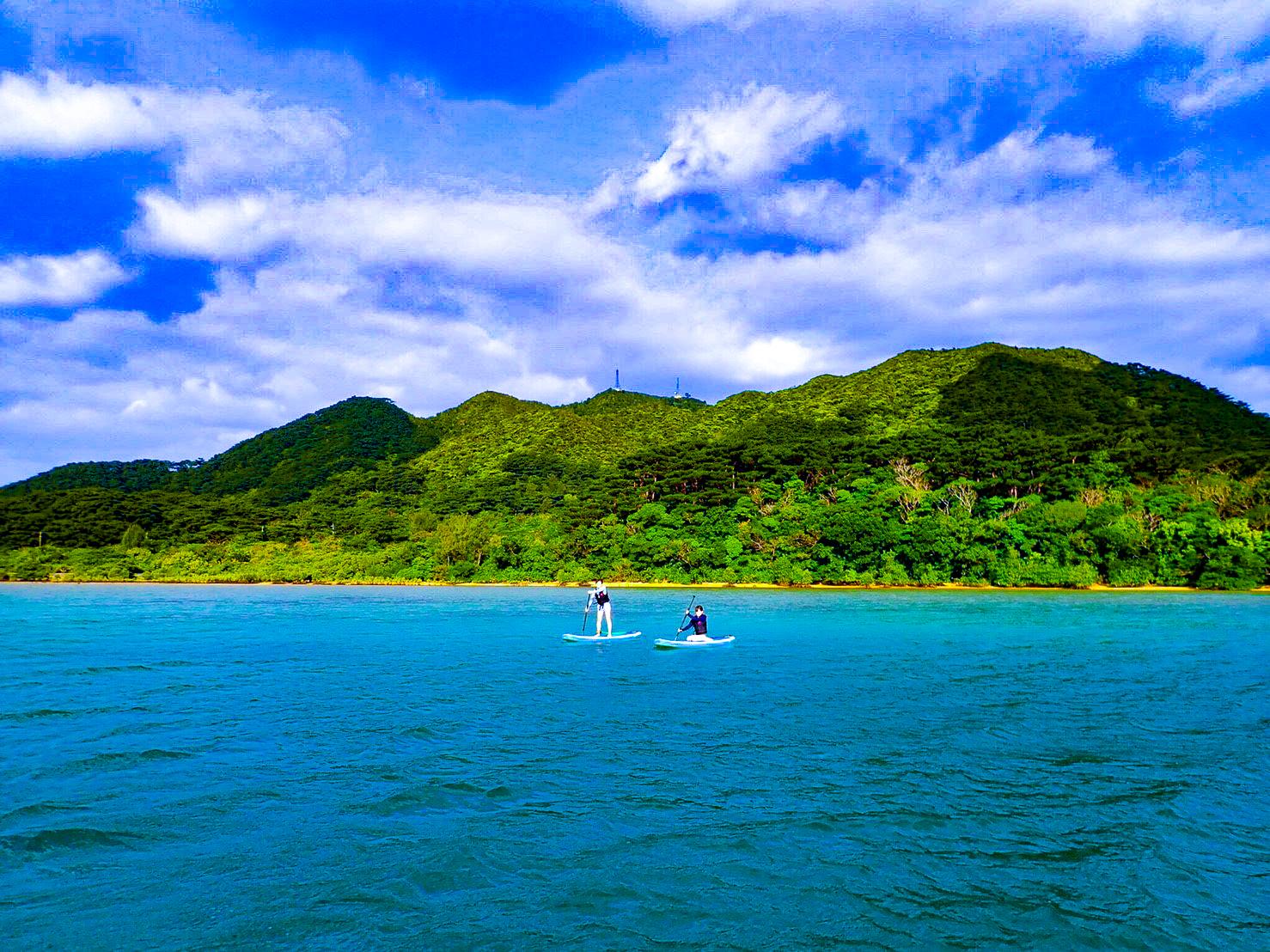 景色抜群の川平湾SUP