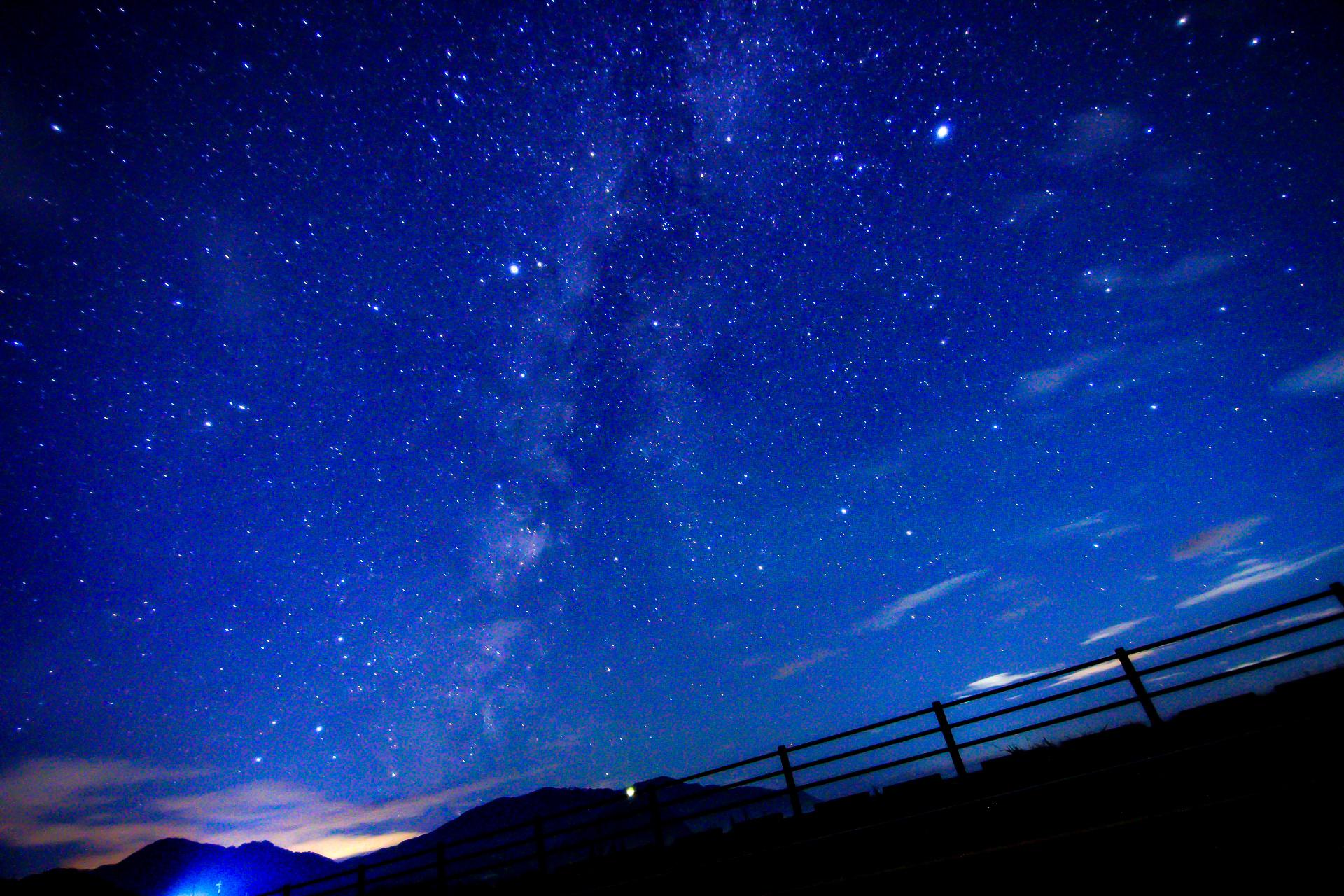 天の川も見ることのできるナイトサップアクティビティ
