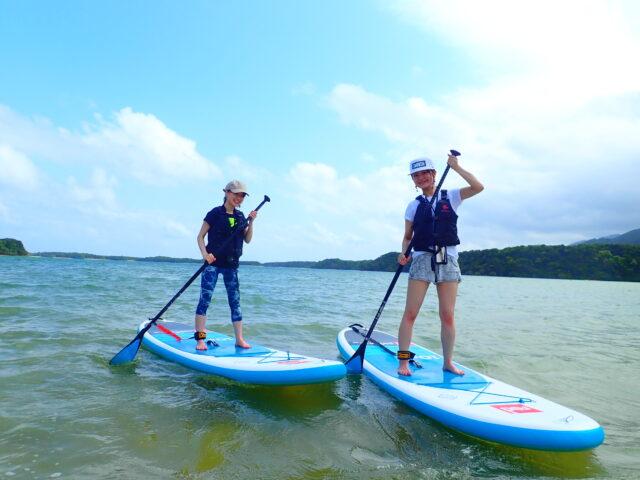 ゴールデンウィークに一番人気の川平湾SUPを女子旅で参加