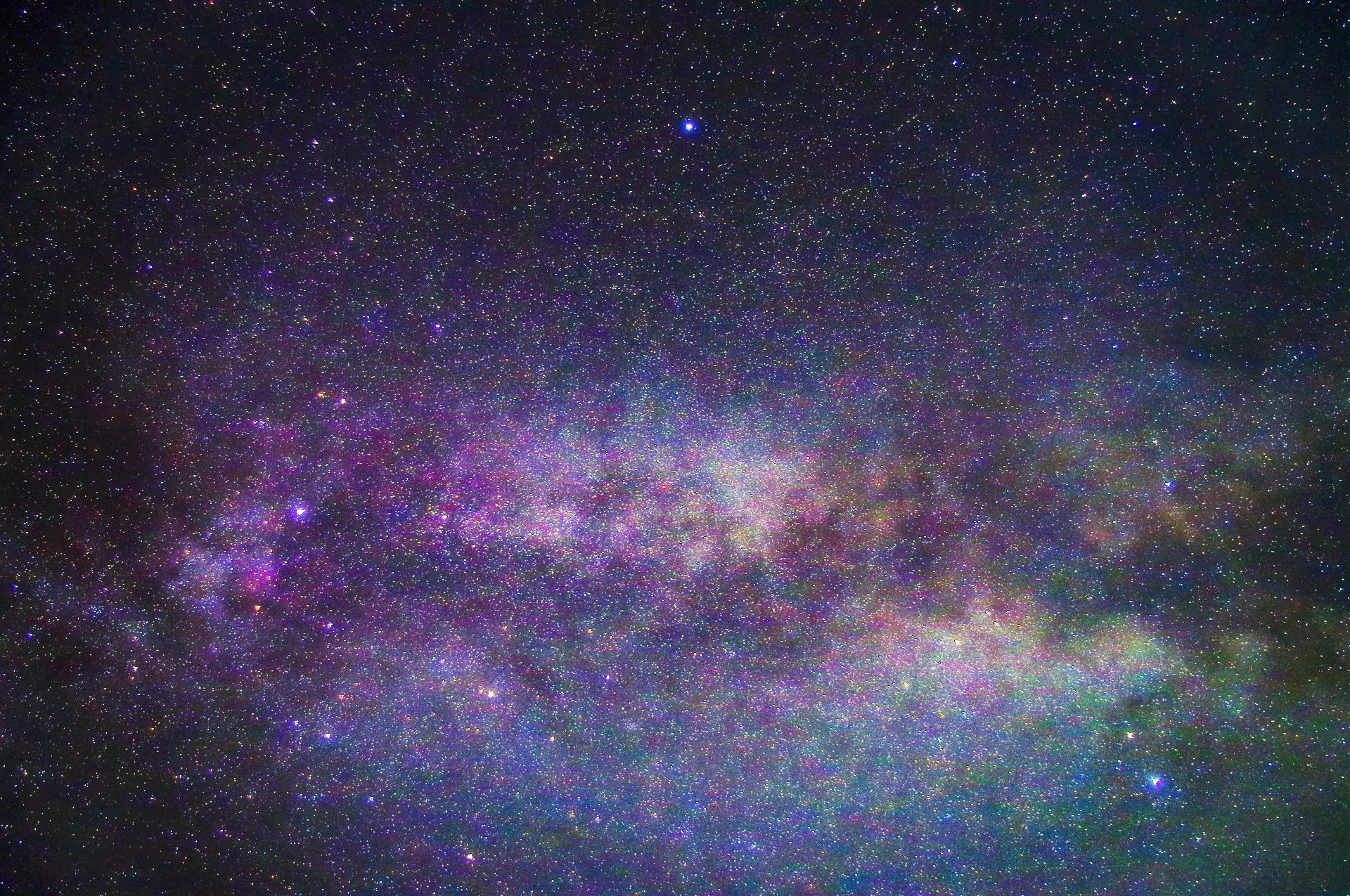 ビーチから見る石垣島の星空