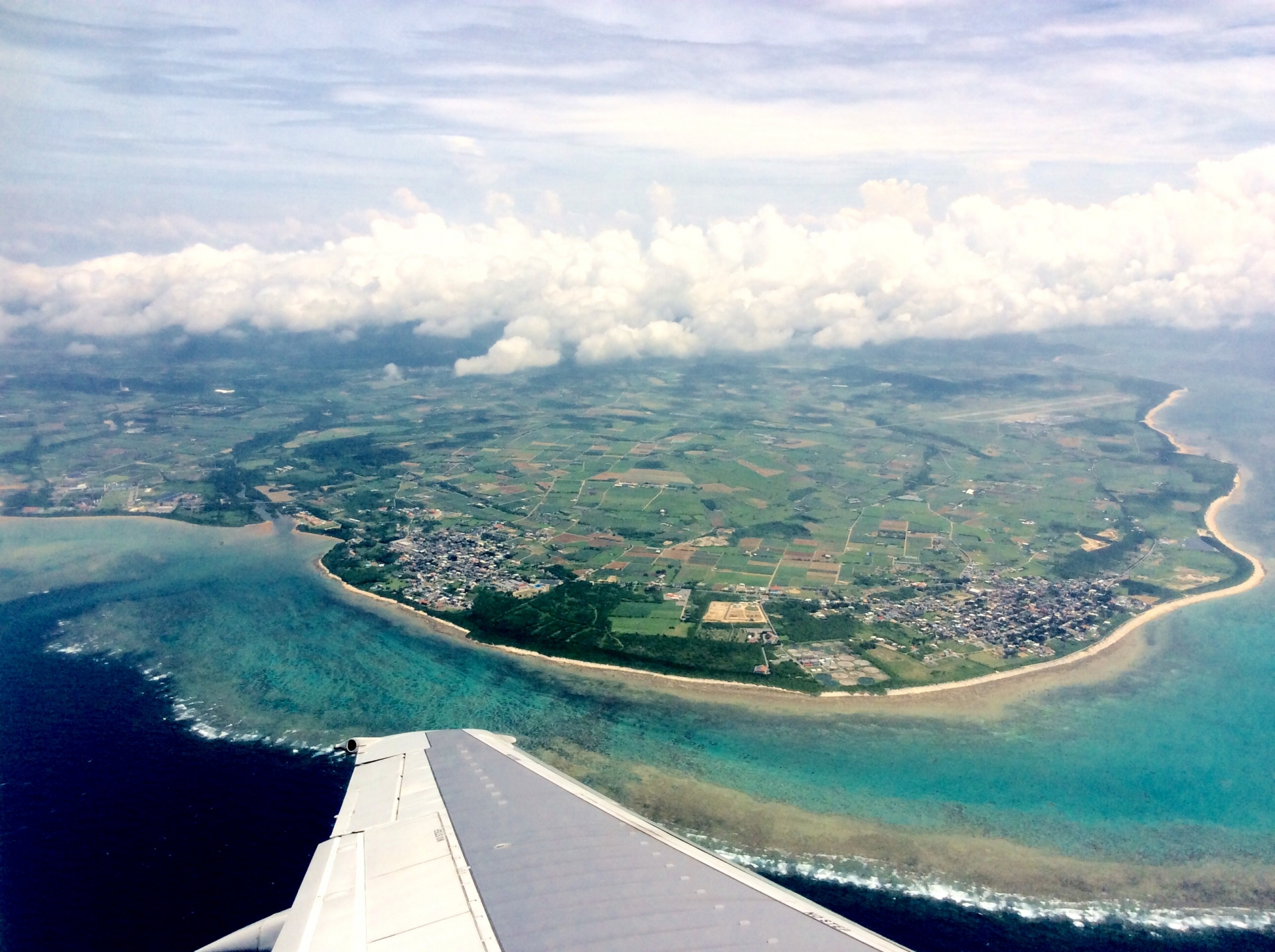 石垣島上空の写真