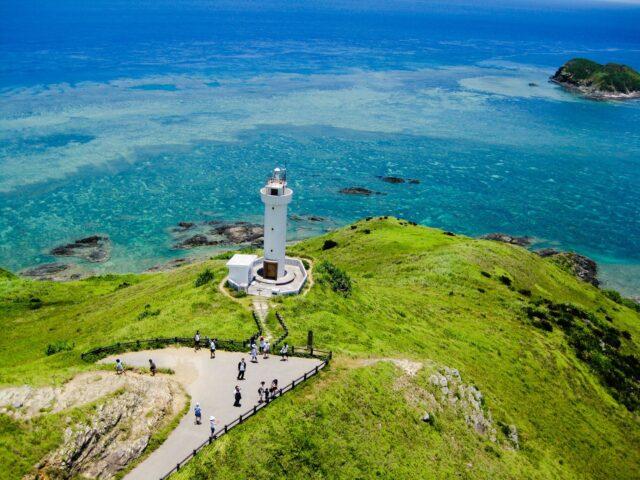 石垣島上空からの景色