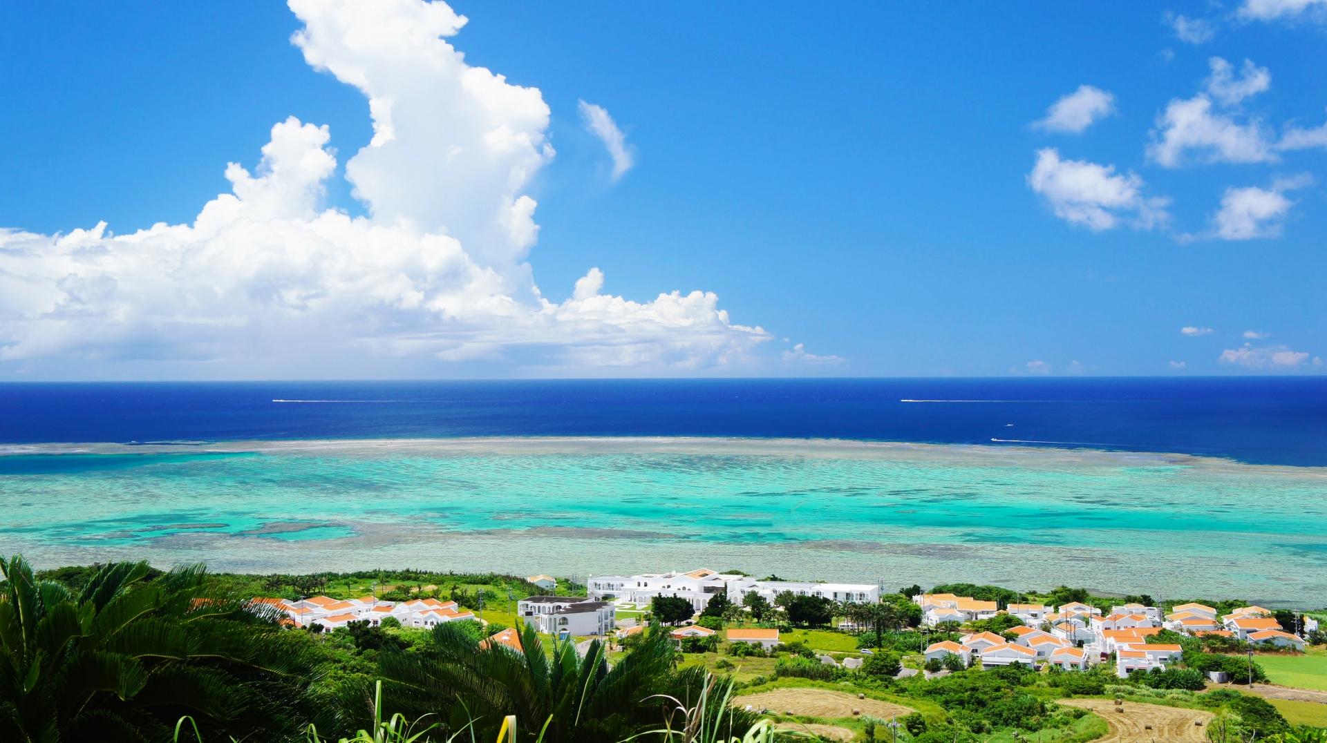 自然の景色が広がる小浜島