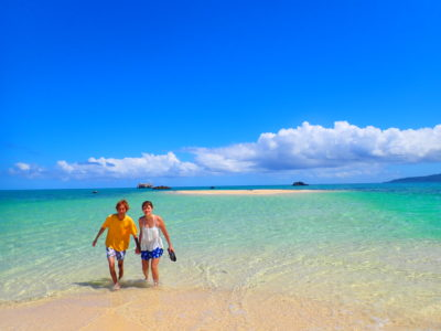 幻の島、浜島上陸、カップルで