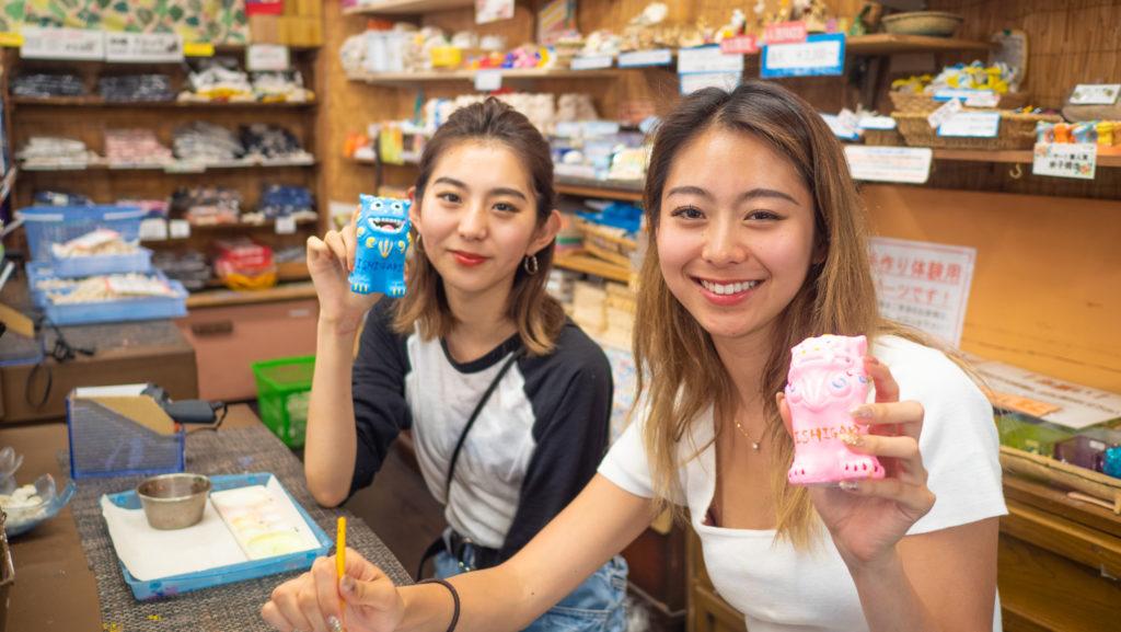 石垣島のシーサー作り体験