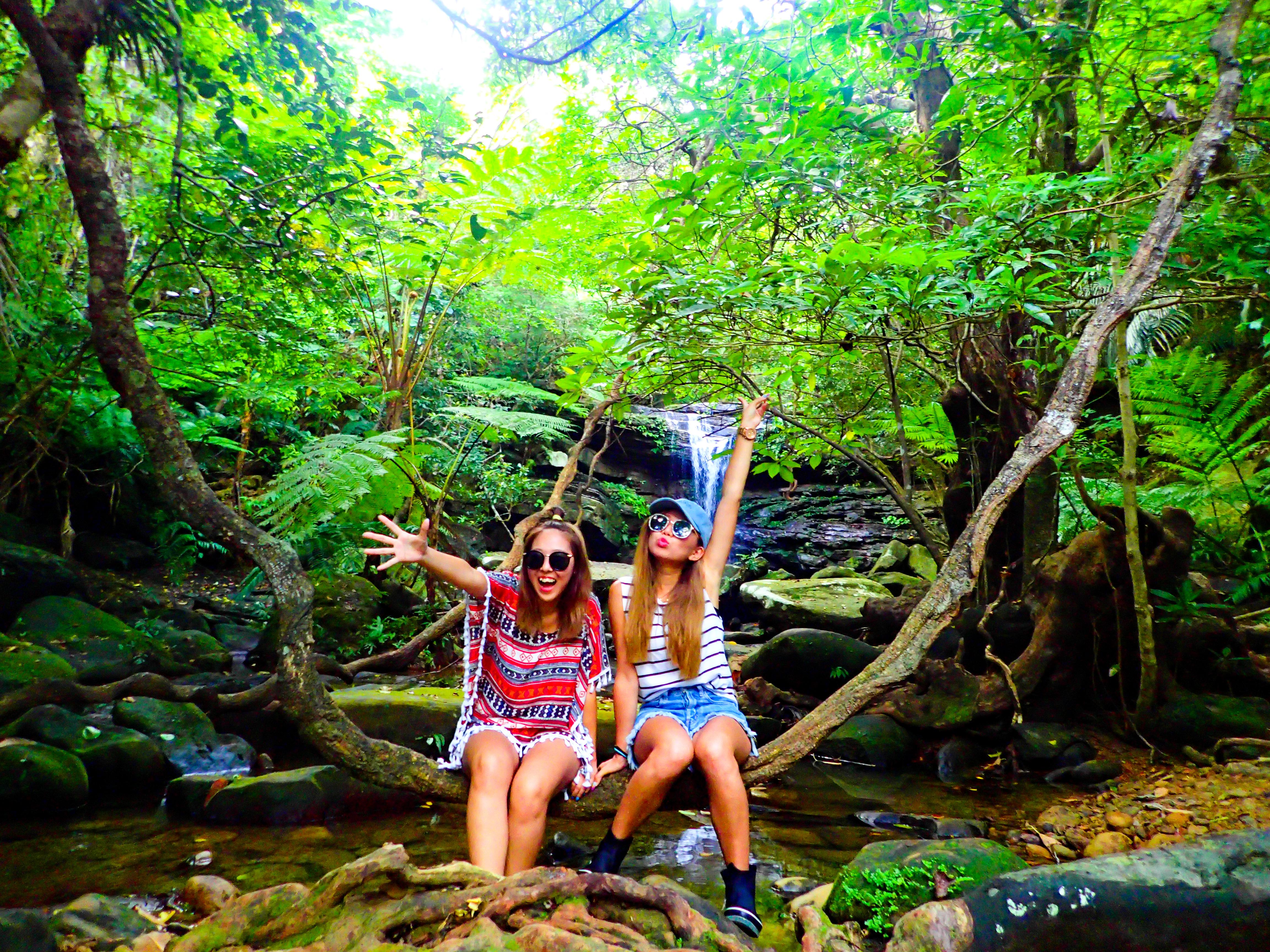 写真映えする西表島のクーラの滝