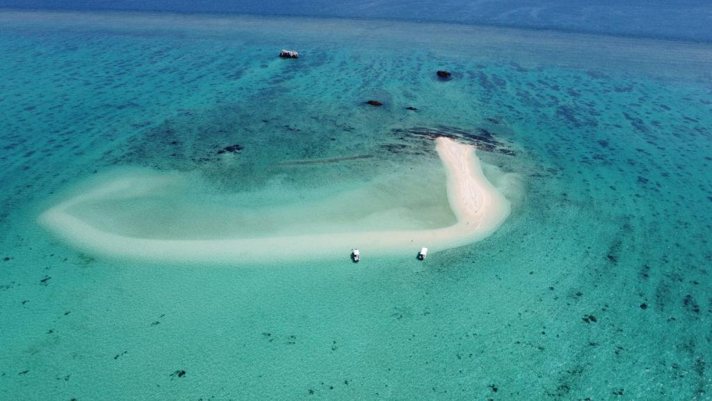 空から見た幻の島(浜島)