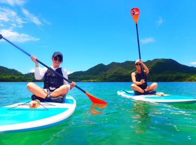 川平湾SUP、友達と、女子旅