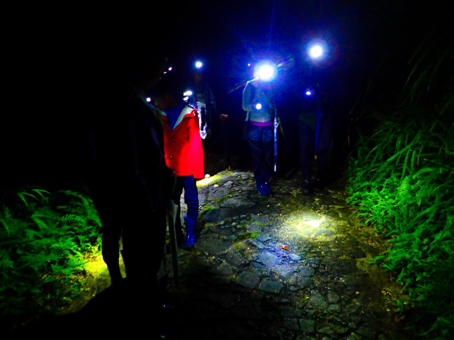 石垣島の星空観賞ツアーに参加の旅行客