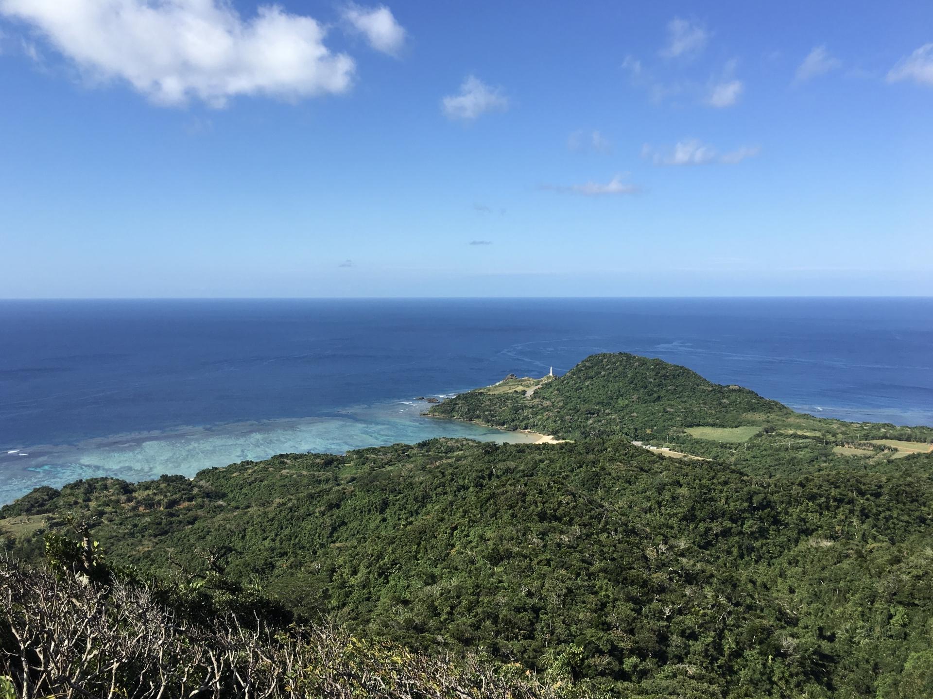 石垣島の1月の空気が澄んだ空