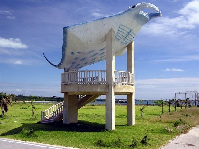 小浜島のマンタスポット海人公園