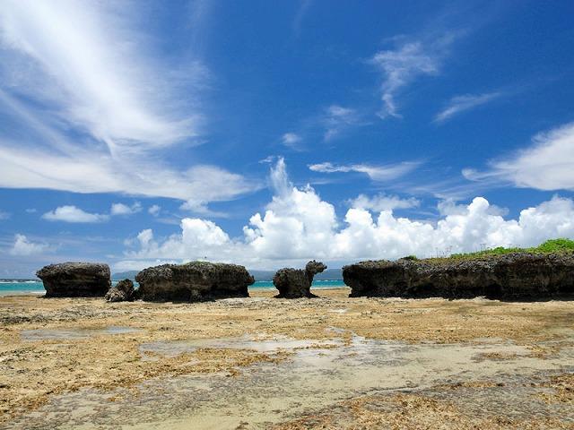 ノッチと振り向き牛の岩