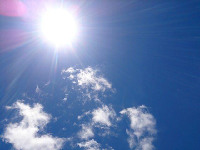 日差しの強い石垣島の夏の太陽