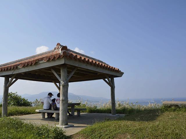 小浜島で最も高い大岳