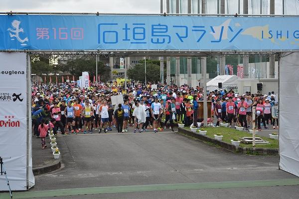 1月に開催される石垣マラソン大会