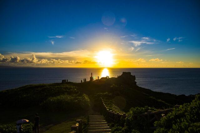 石垣島の8月の夕日を観察