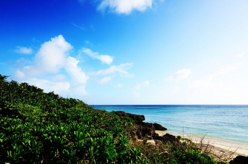 黒島屈指のビーチ西の浜