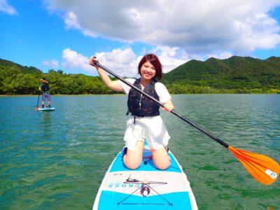 石垣島、川平湾SUP、女の子一人旅、友達と