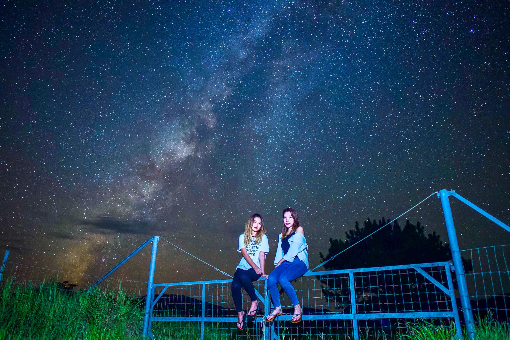 満天の星空を観察