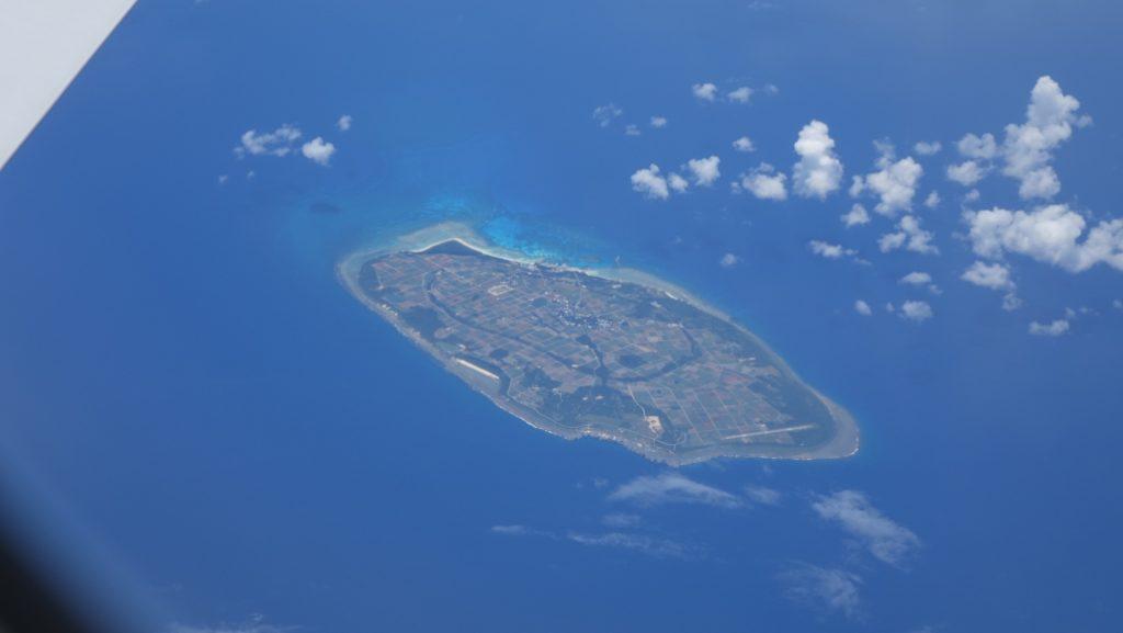上空から見る波照間島
