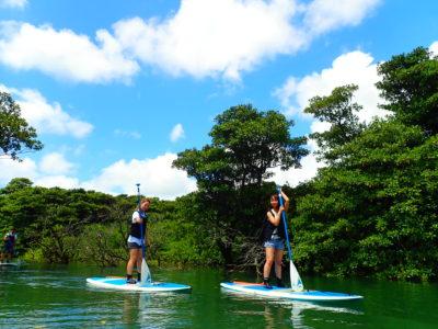 石垣島、宮良川マングローブSUP、女子旅、友達と