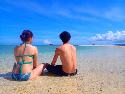 石垣島、幻の島シュノーケリング、カップルで