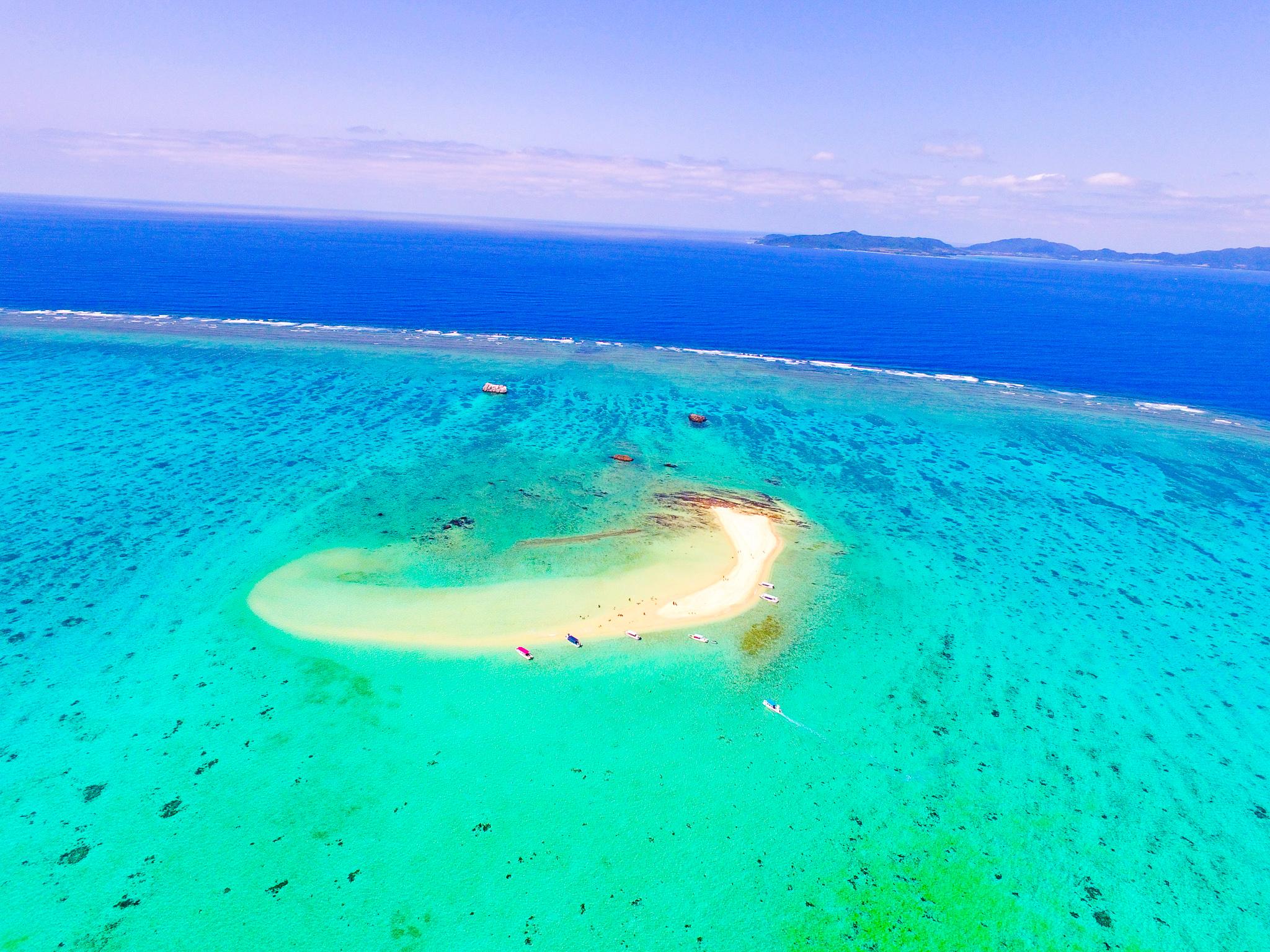 石西礁湖にある幻の島