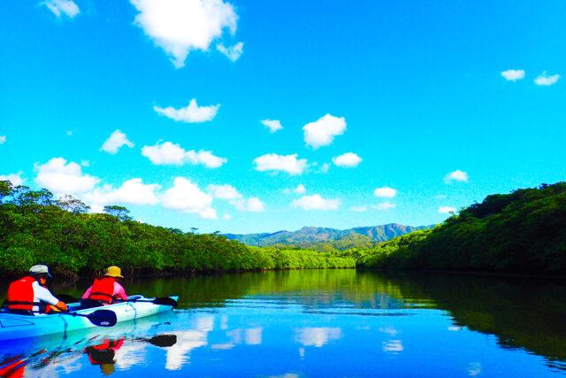 水面に風景が写るほど美しい石垣のマングローブ