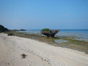 ホワイトサンドビーチとノッチ岩