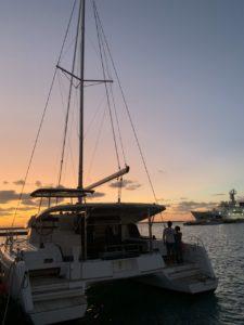 石垣島のクルーズの夕日