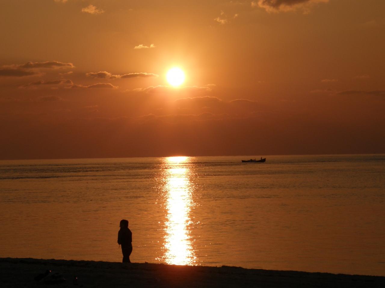 名蔵湾のサンセット