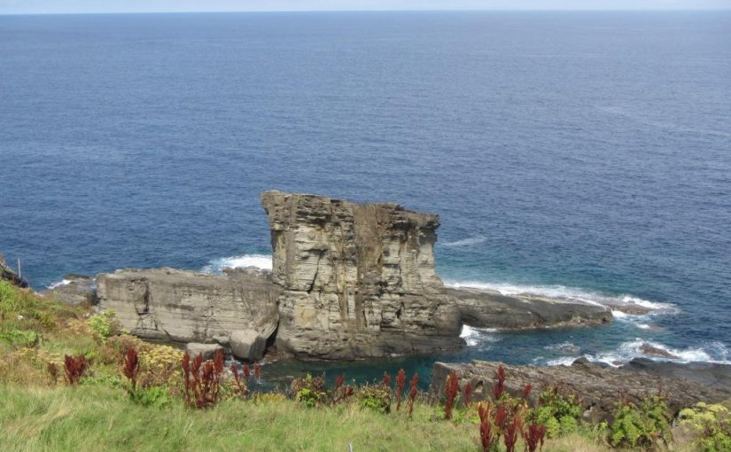 与那国島の軍艦岩