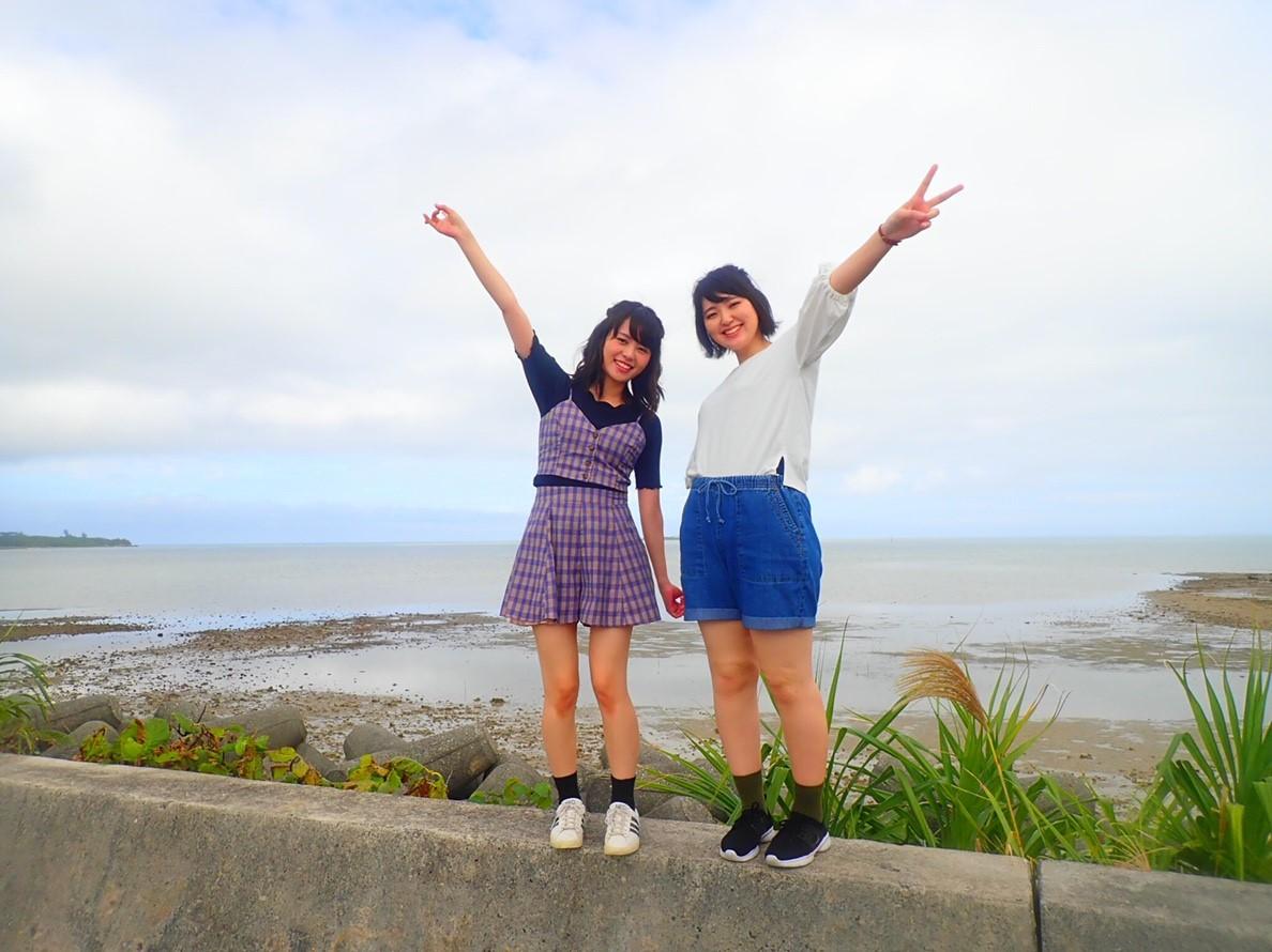 見所満載の石垣島を楽しむ女子2人