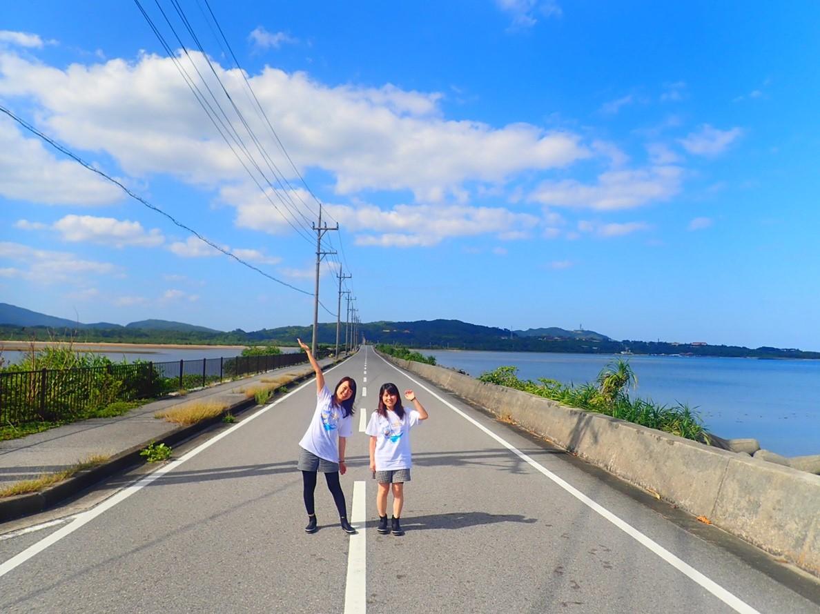 天気抜群の石垣島の道