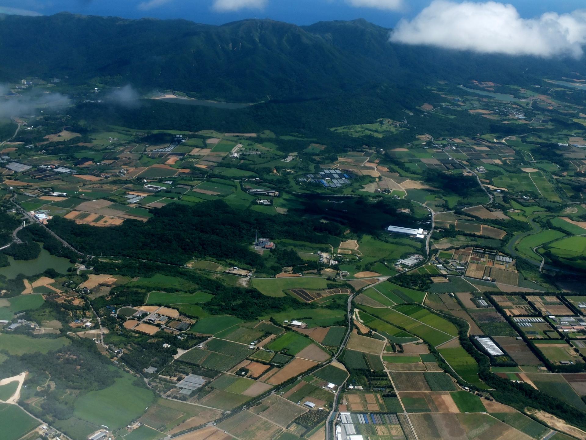 飛行機から見た石垣島