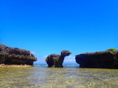 振り向き牛の岩