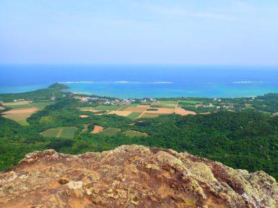 野底岳(マーペー岳)トレッキング、山頂からの景色